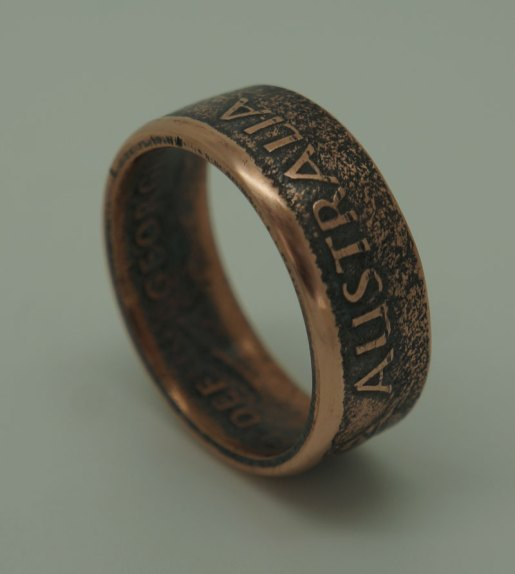 1951-Australian-penny-coin-ring-2-size-11-25