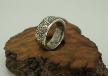 1966-Australian-silver-50-cent-coin-ring-4-size10