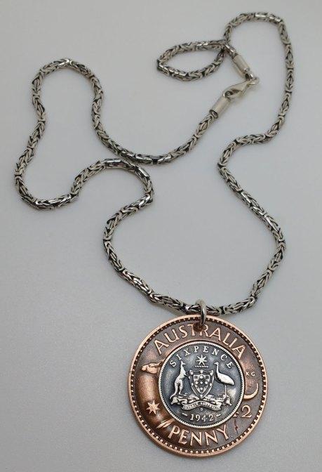 1942-Australia-Penny-six-pence-pendant-2