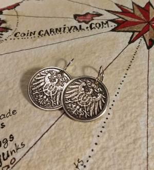 hand made coin earrings