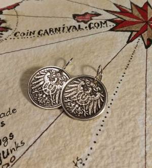 hand made coin earrings
