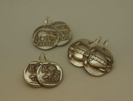 Aegina Sea Turtles coin earring