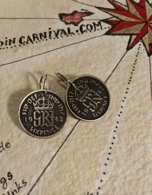 1942-UK-silver-6-pence-coin-earrings-1