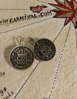 1942-UK-silver-6-pence-coin-earrings-1