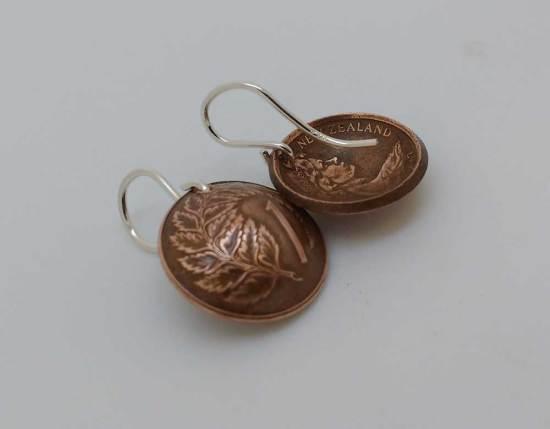 New-Zealand-1-cent-fern-copper-coin-earrings-2