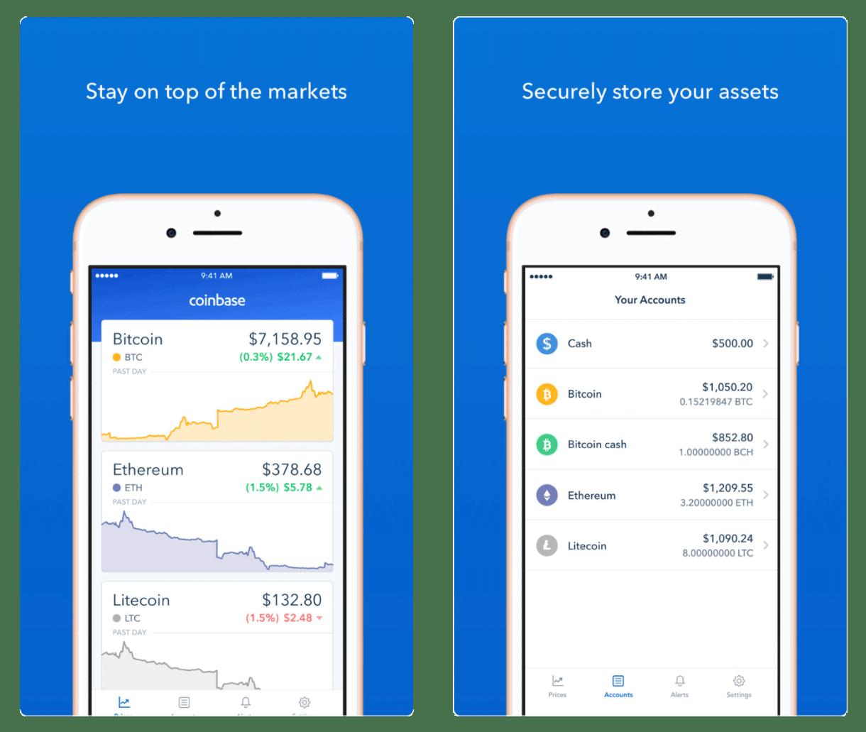 Krypto-App Coinbase
