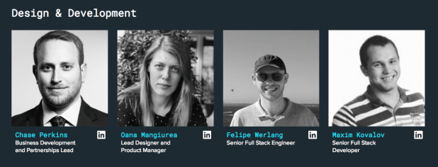 A section of the SelfKey design and development team