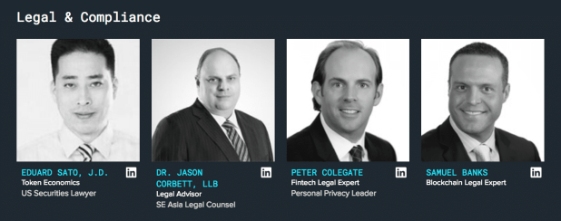 A section of the SelfKey legal team