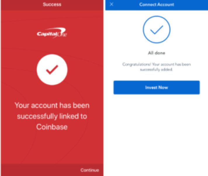 Connect your bank account to Coinbase