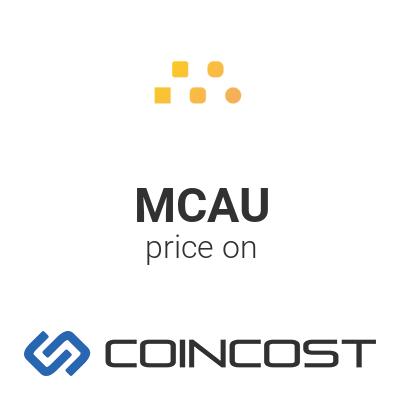 Meld Gold MCAU price chart online. MCAU market cap, volume