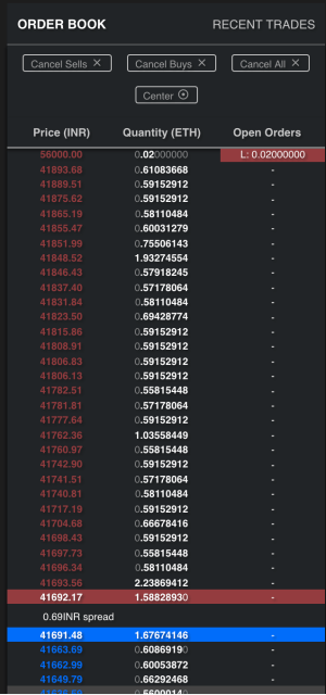 order book on payleo