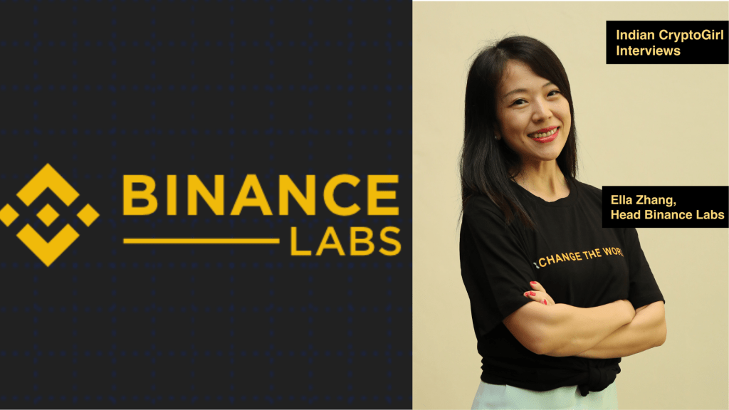 Elle Zhang interview on how Binance Labs can help Indian blockchain startups