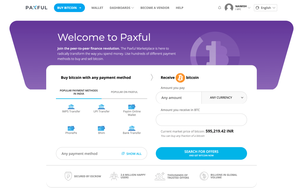 paxful account for sale