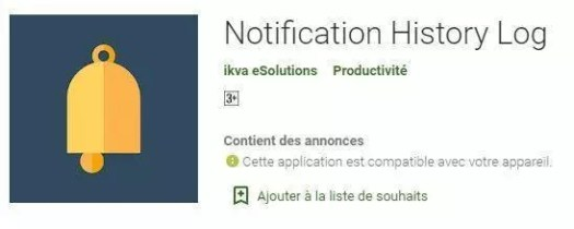 récupérer un message sur whatsapp - Notification History Log