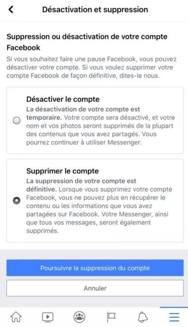 paramètre facebook sur téléphone