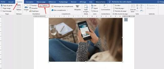 comment faire une capture d'écran sur ordi avec word
