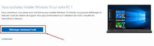 télécharger l'outil création de support windows 10