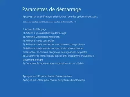 mode sans échec windows 10