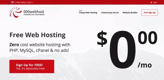 Hébergeur web gratuit