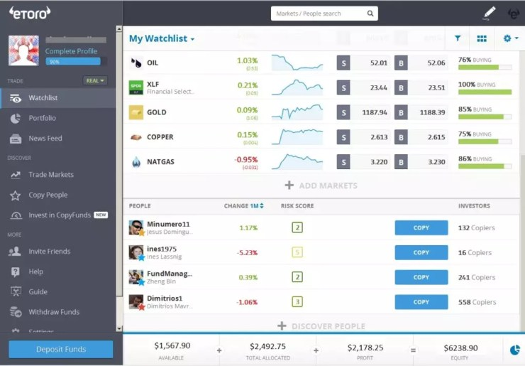 etoro platform interface