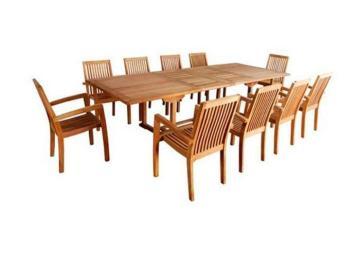Table De Jardin Teck Brut Grade A | Banc De Jardin En Teck Brut ...