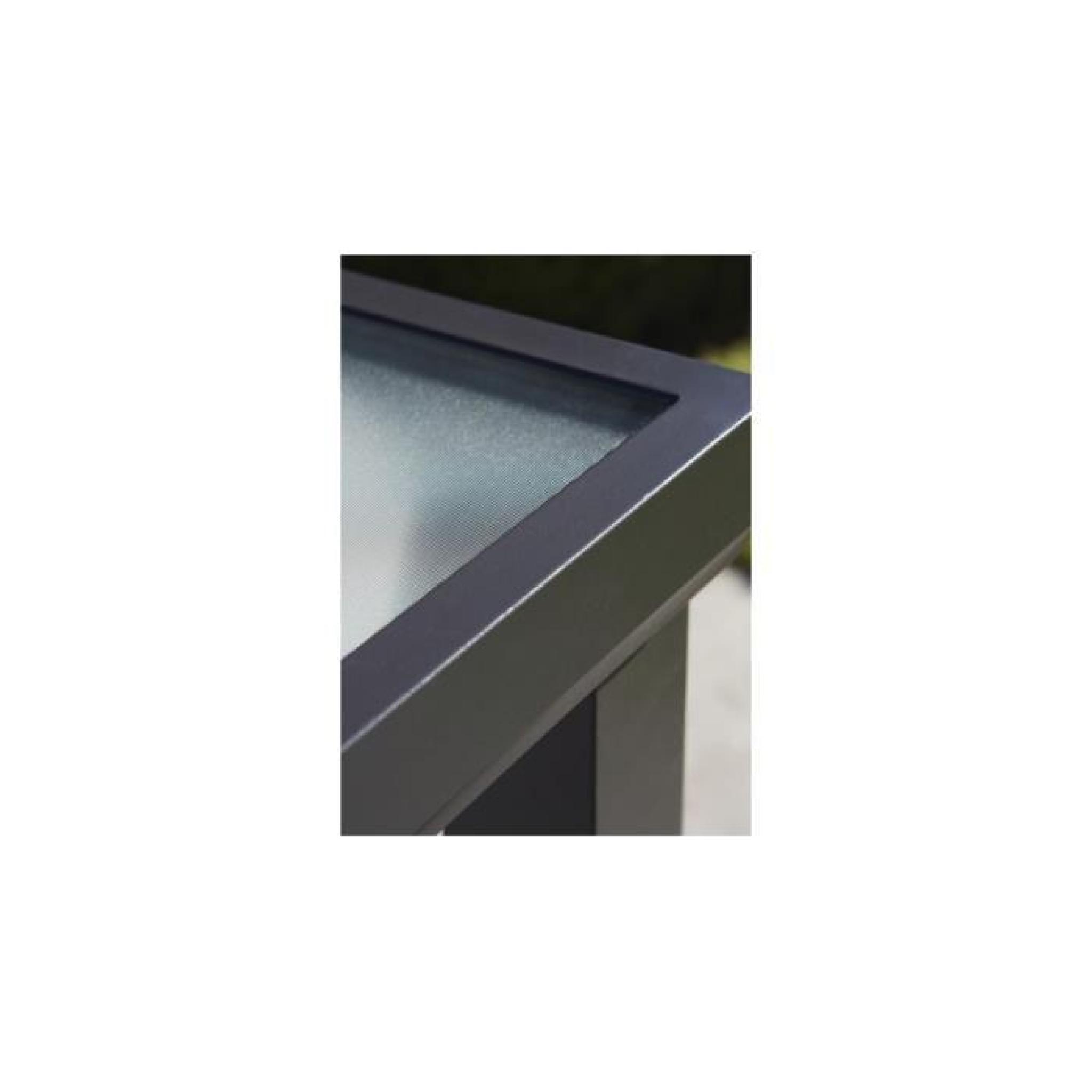 Table De Jardin Alu Noir | Table De Jardin Aluminium Et Composite ...