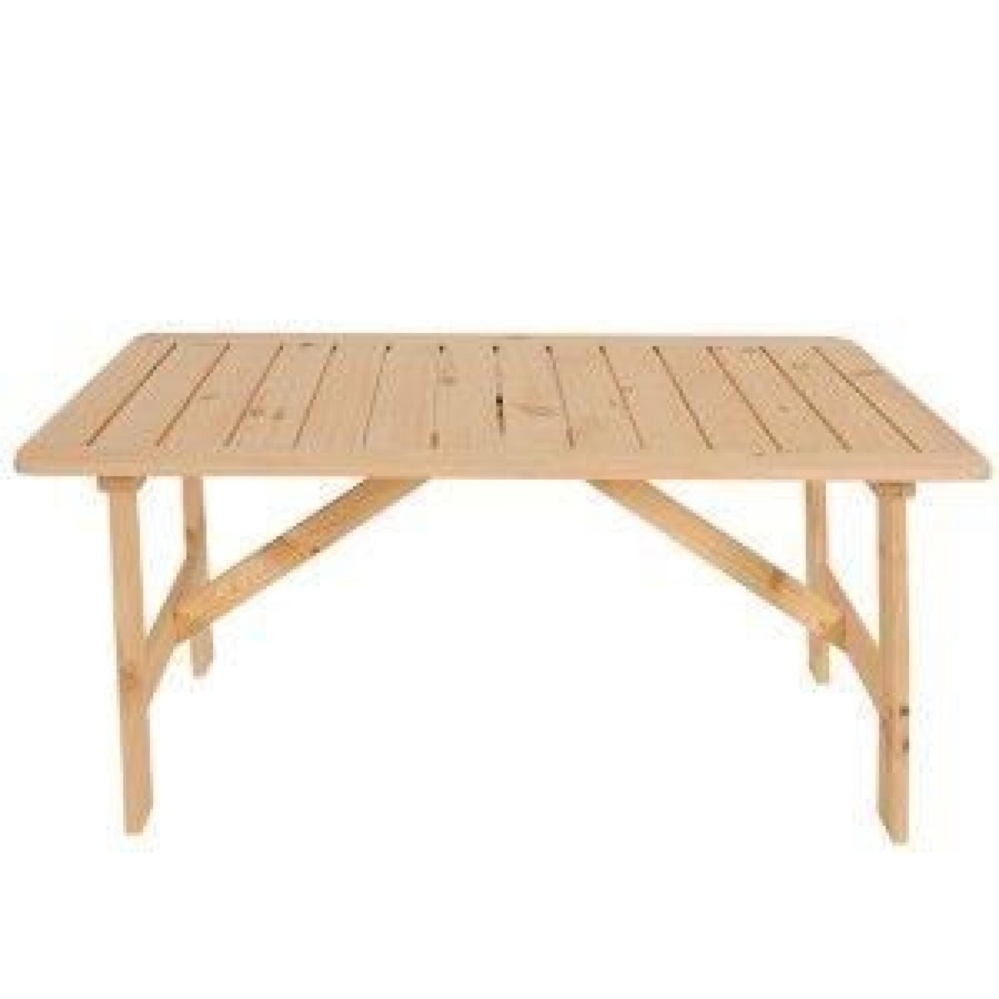 Table De Jardin Bois Massif | Album Tables Jardin Rondins ...