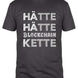 bitcoin t-shirt blockchainkette