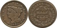 Braided Hair Half Cent Value - Coin HELP