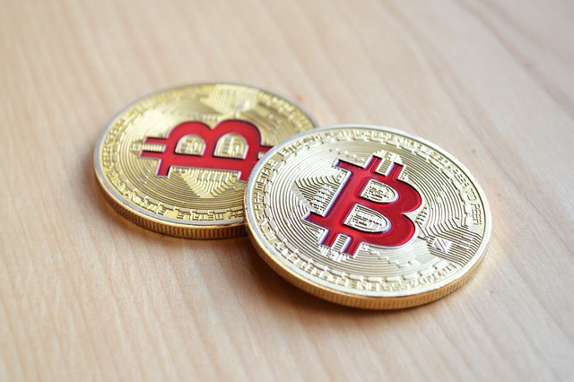 two bitcoin coins