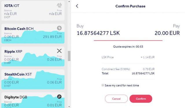 How do I buy Lisk using a credit card