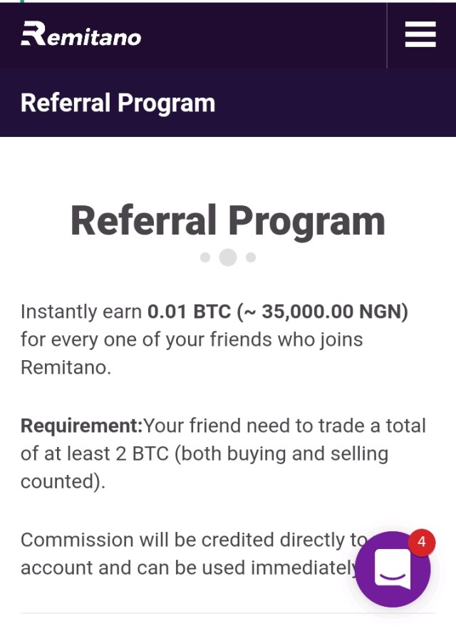 Remitano referral program