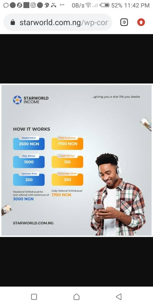 Starworld income