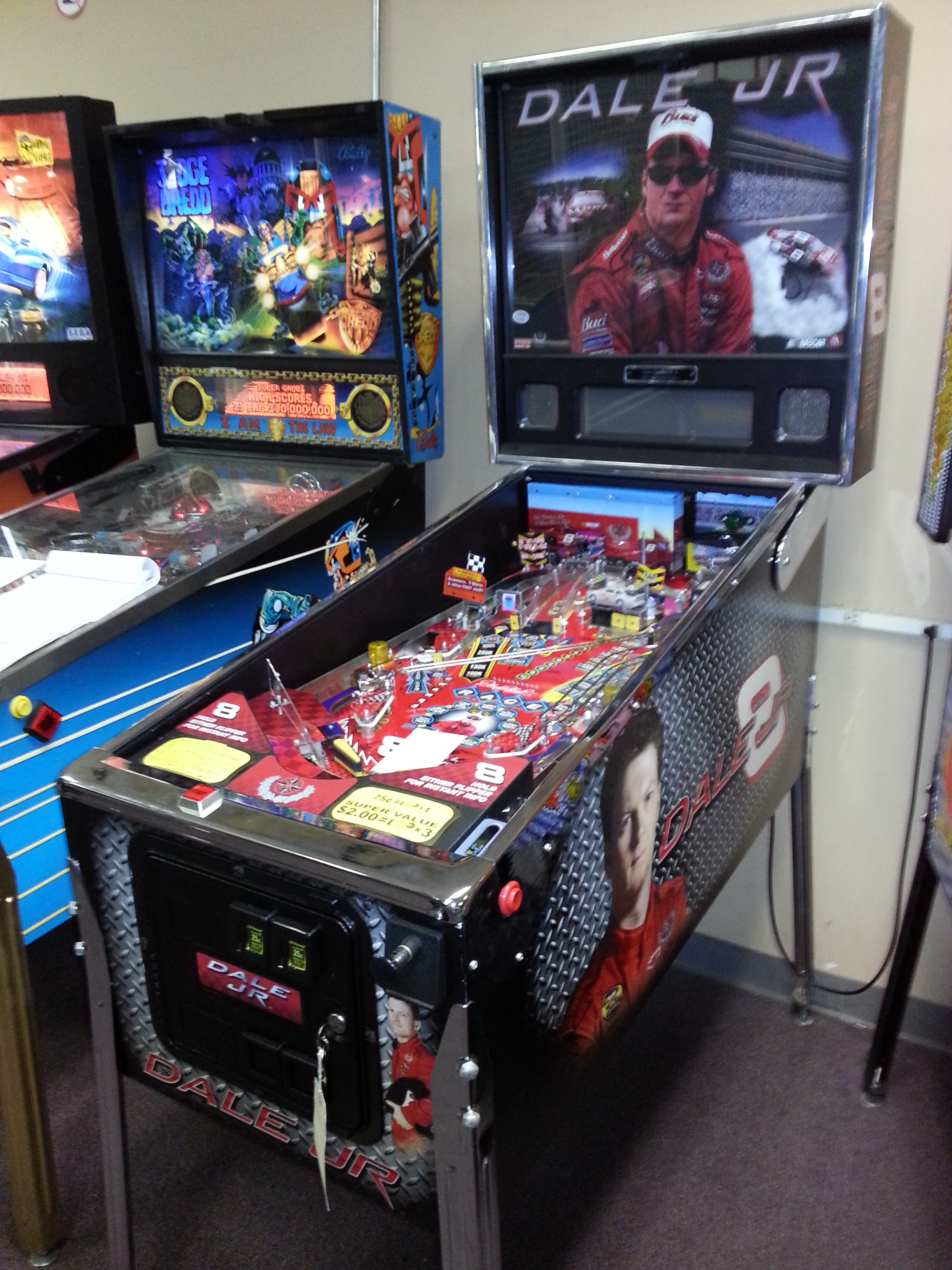 NASCAR DALE EARNHARDT JR 8 Pinball Machine Game for sale by Stern  LIMITED EDITION  FREE
