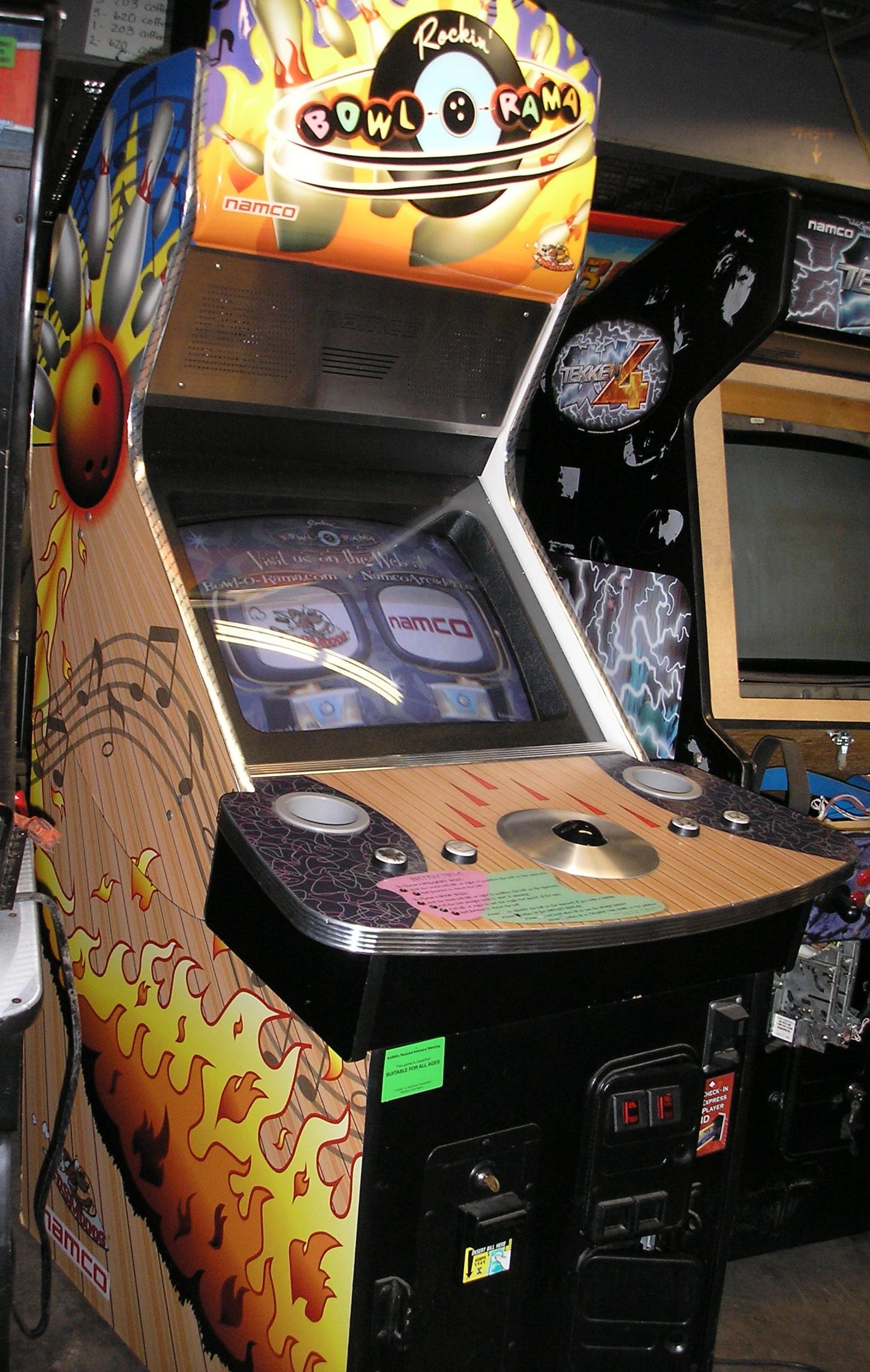 Rockin Bowl O Rama Arcade Machine Game For Sale By Namco