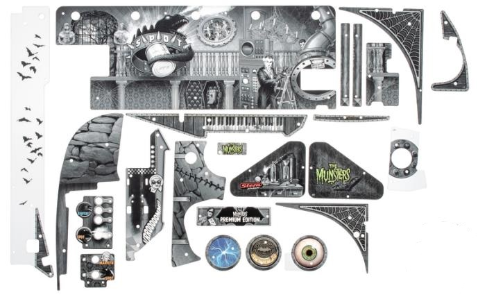 STERN MUNSTERS PREMIUM (BLK/WHT) Pinball Machine Game
