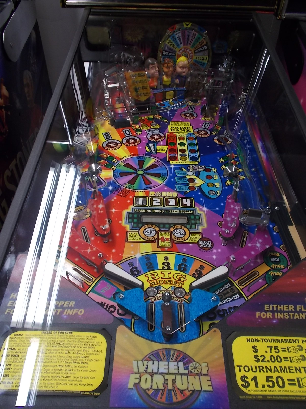 WHEEL OF FORTUNE Pinball Machine Game by Stern  VANNA
