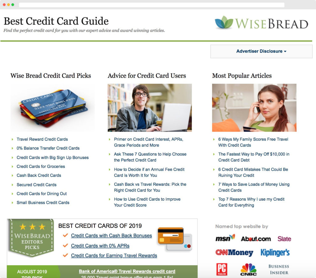 Credit Cards Page