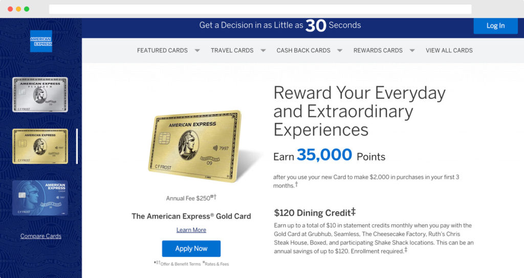 Credit Cards from American Express