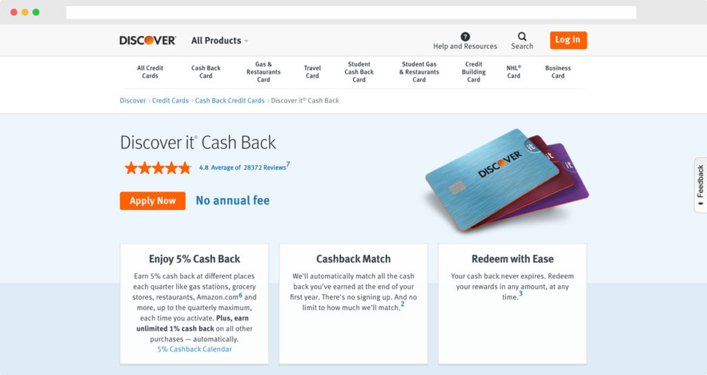 Discover® it Cash Back
