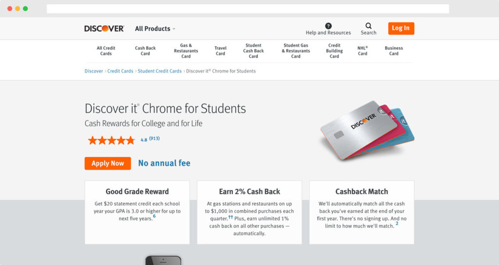 Discover® it Student Chrome