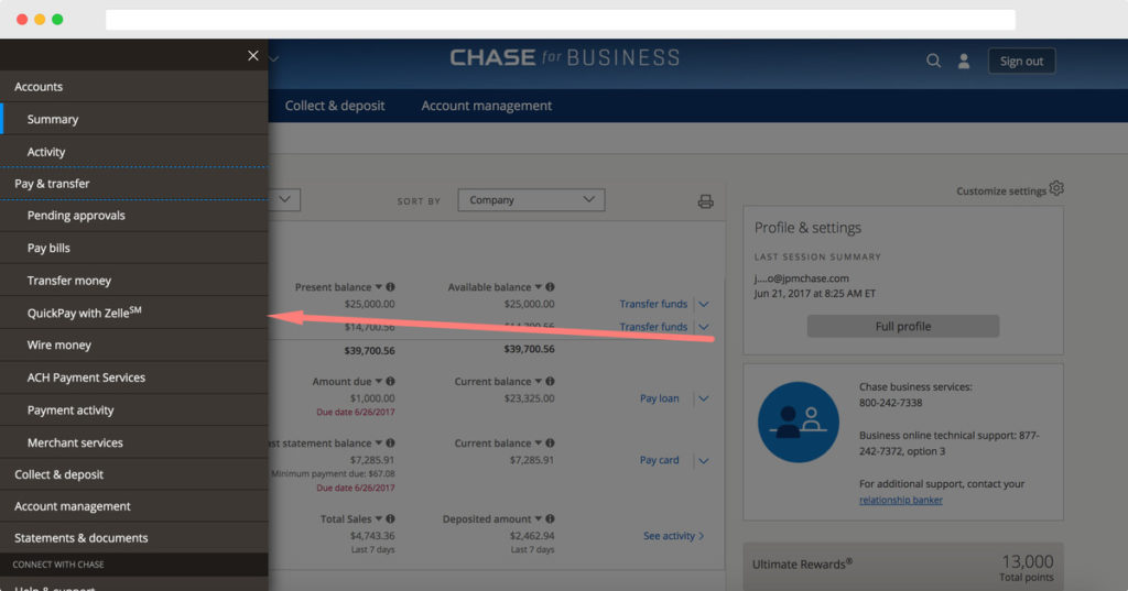 Chase QuickPay Demo