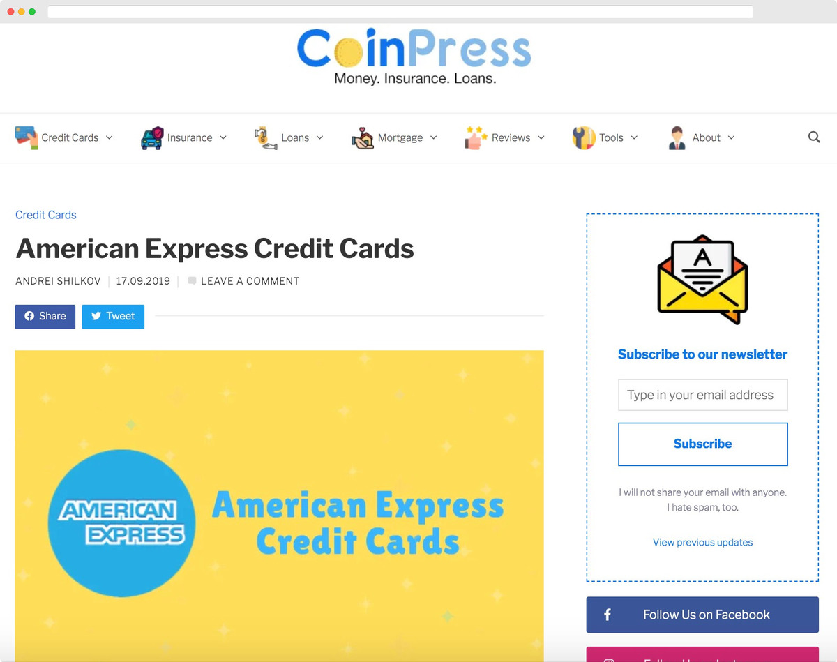 AMEX Credit Cards