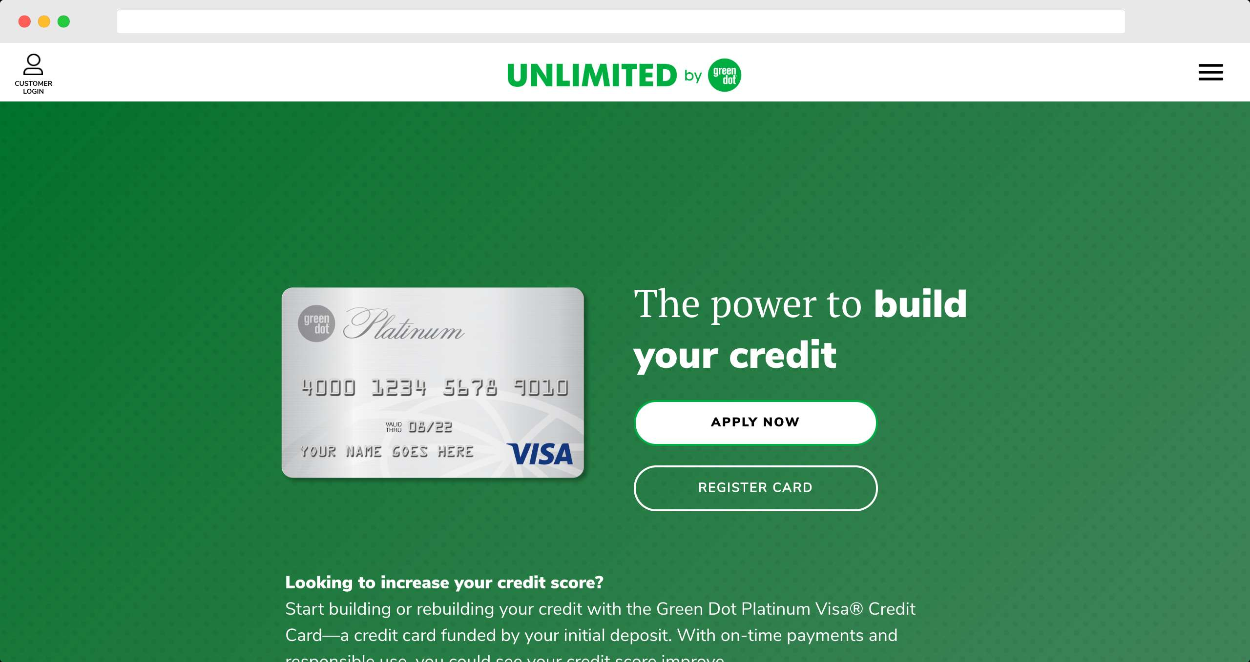 Green Dot Secured Credit Card