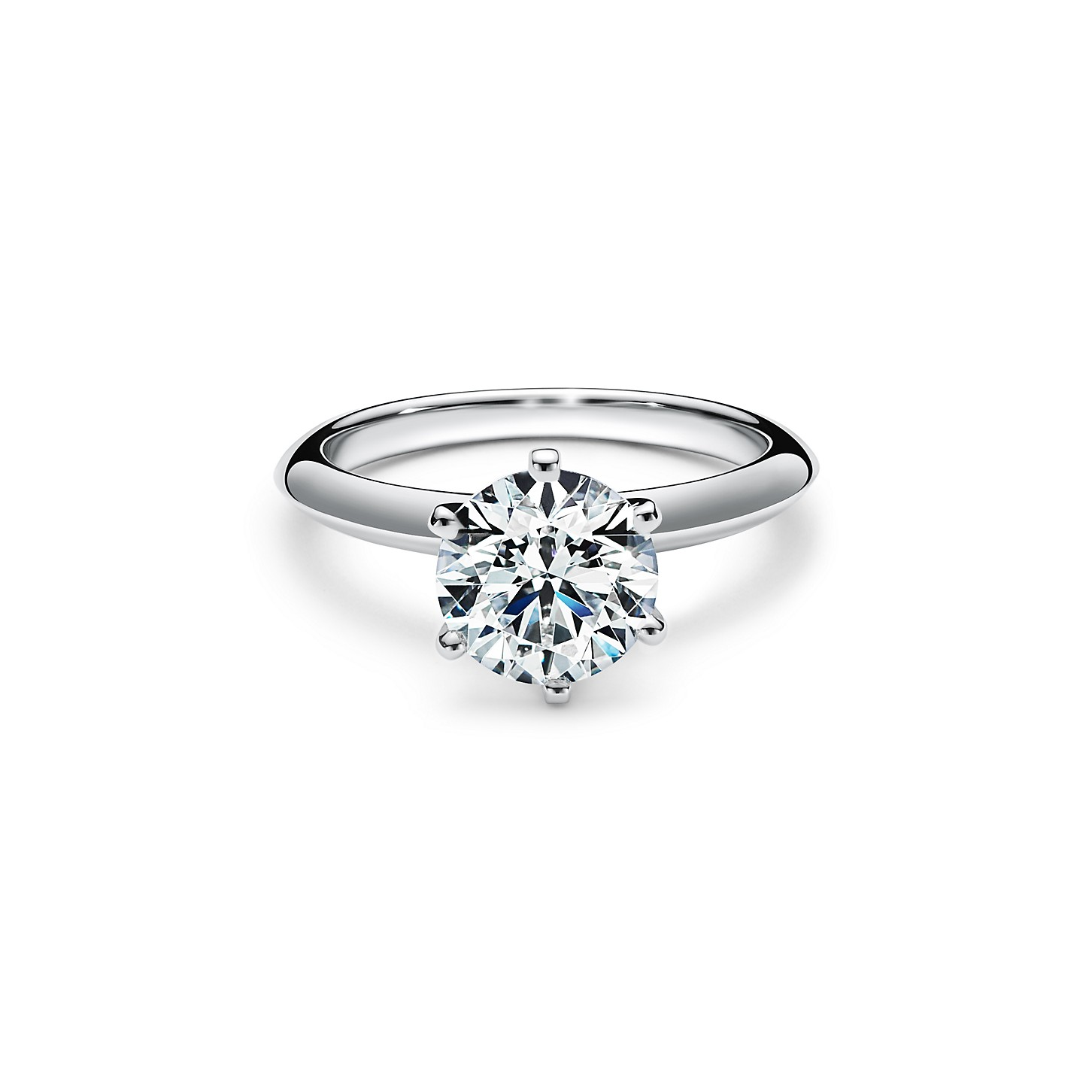 The Tiffany® Setting Engagement Ring in Platinum