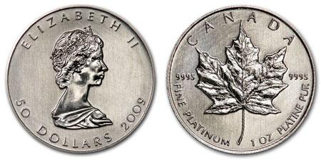 Platinum Maple Leaf Coin