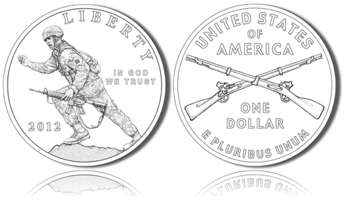 2012 Infantry Soldier Silver Dollar Commemorative Coins