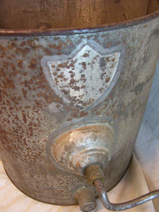metal kitchen trash can slicer antique smp triumph butter churn,hand crank, metal, circa ...