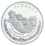 1991 Mount Rushmore Golden Anniversary Silver Dollar