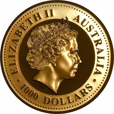 2007 Australia 1000 Dollars Lunar coins obverse